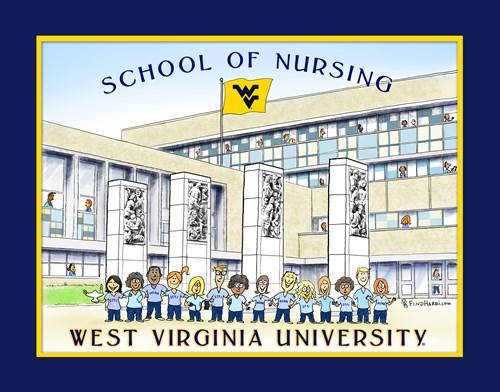 West Virginia University Address >> Art Print   School of Nursing   West Virginia University
